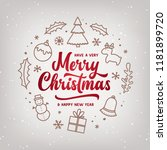 merry christmas and happy new...   Shutterstock .eps vector #1181899720