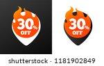 30 percent discount burning... | Shutterstock .eps vector #1181902849