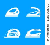 smoothing iron drag appliance... | Shutterstock .eps vector #1181908720