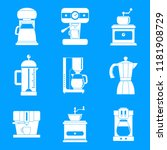 coffee maker pot espresso cafe... | Shutterstock .eps vector #1181908729