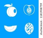 peach tree slices fruit half... | Shutterstock .eps vector #1181908759