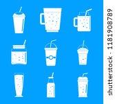 smoothie milkshake fruit juice...   Shutterstock .eps vector #1181908789