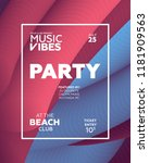 night party banner template for ...   Shutterstock .eps vector #1181909563