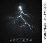 lightning flash bolt. lightning ... | Shutterstock .eps vector #1181910370