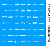 sound wave icons set. simple... | Shutterstock .eps vector #1181910823