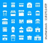 street food kiosk icons set.... | Shutterstock .eps vector #1181911459