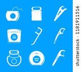 floss dental brushing teeth...   Shutterstock .eps vector #1181911516