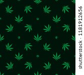 cannabis marijuana seamless... | Shutterstock .eps vector #1181912656