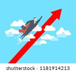 young happy businessman as a... | Shutterstock .eps vector #1181914213