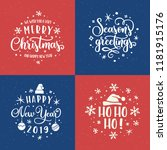 merry christmas and happy new... | Shutterstock .eps vector #1181915176