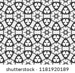 black and white geometric... | Shutterstock .eps vector #1181920189