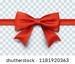gift box red ribbon with bow.... | Shutterstock .eps vector #1181920363