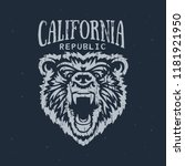 california republic t shirt... | Shutterstock .eps vector #1181921950