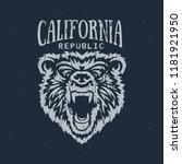 california republic t shirt... | Shutterstock .eps vector #1181921950