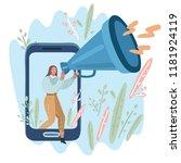 vector cartoon illustration of... | Shutterstock .eps vector #1181924119
