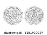 greece  crete. phaistos ancient ...   Shutterstock . vector #1181930239