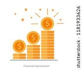 financial high return on... | Shutterstock .eps vector #1181933626