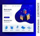 isometric audio equipment sound ... | Shutterstock .eps vector #1181933653