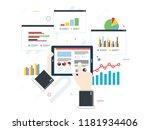 concept of finance investment... | Shutterstock .eps vector #1181934406