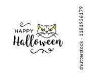vector happy halloween...   Shutterstock .eps vector #1181936179