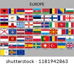 all flags of europe. vector... | Shutterstock .eps vector #1181942863