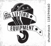 lifting work logo design ... | Shutterstock .eps vector #1181944660
