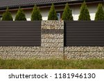 the house is surrounded by a... | Shutterstock . vector #1181946130
