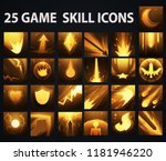 vector mmorpg game skills pack | Shutterstock .eps vector #1181946220