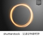 abstract gold wavy line of... | Shutterstock .eps vector #1181948959