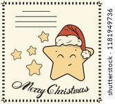 christmas post card with cute... | Shutterstock .eps vector #1181949736
