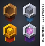 vector mobile game rank badge | Shutterstock .eps vector #1181950966