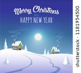 merry christmas and happy new... | Shutterstock .eps vector #1181954500