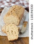 Homemade bread with bran and coriander seeds - stock photo