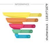 pyramid infographics. funnel... | Shutterstock .eps vector #1181971879
