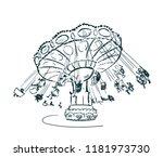 carousel vector sketch | Shutterstock .eps vector #1181973730
