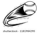 baseball ball with an effect... | Shutterstock .eps vector #1181984290