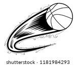 basketball ball with an effect... | Shutterstock .eps vector #1181984293