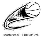 basketball ball with an effect... | Shutterstock .eps vector #1181984296