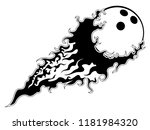 bowling ball with an effect... | Shutterstock .eps vector #1181984320
