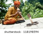 Indian Snake Charmer Adult Man...