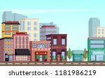 city downtown scenery with... | Shutterstock .eps vector #1181986219