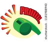icon symbol  whistle sound...   Shutterstock .eps vector #1181988940