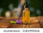 lavender essential oil in a... | Shutterstock . vector #1181990326