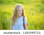 young beautiful woman portrait... | Shutterstock . vector #1181990713