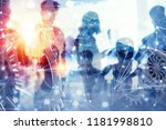 business people work together... | Shutterstock . vector #1181998810