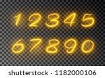 light number of glow line... | Shutterstock .eps vector #1182000106