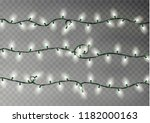 christmas color lights string.... | Shutterstock .eps vector #1182000163