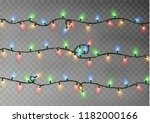 christmas color lights string.... | Shutterstock .eps vector #1182000166