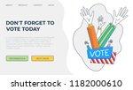 set of hand draw hands. voting... | Shutterstock .eps vector #1182000610