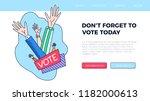set of hand draw hands. voting... | Shutterstock .eps vector #1182000613